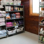 Food and pharmaceutical supplies at a veterinary clinic