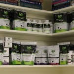 pet medicine on shelf in veterinary pharmacy
