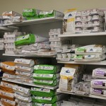 Shelves of dog and cat food