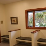 Waiting room for patients at veterinary clinic
